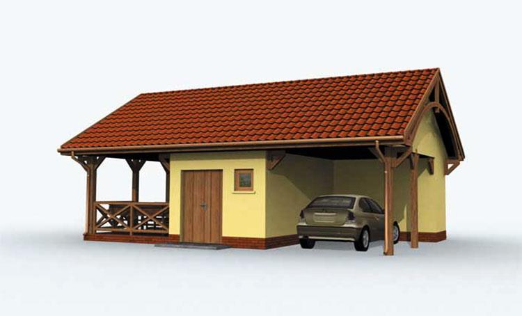 Модель беседки с гаражом