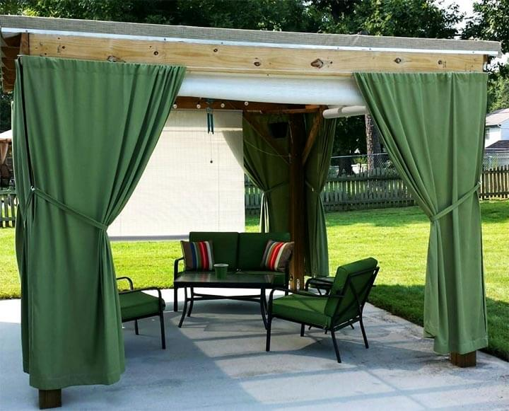 Зеленые шторы для летней террасы