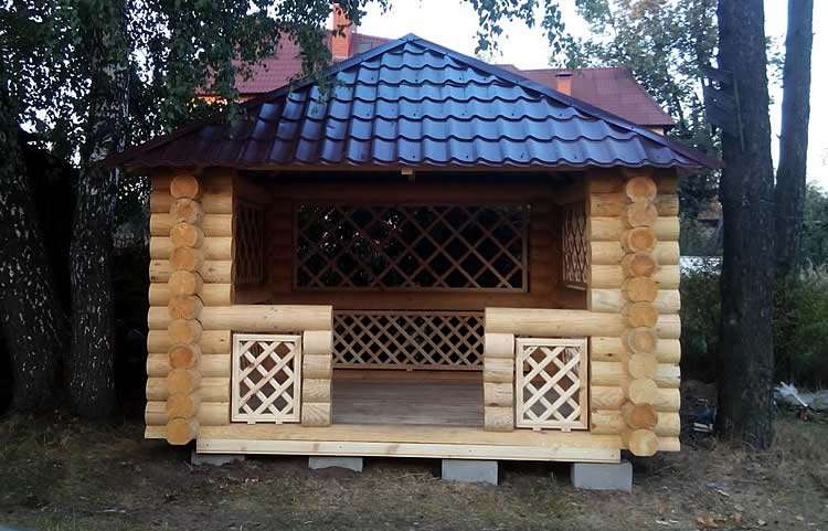 Столбчатый фундамент под лёгкую конструкцию из дерева