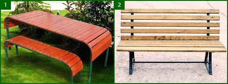 Металлические скамейки – надежная мебель в саду