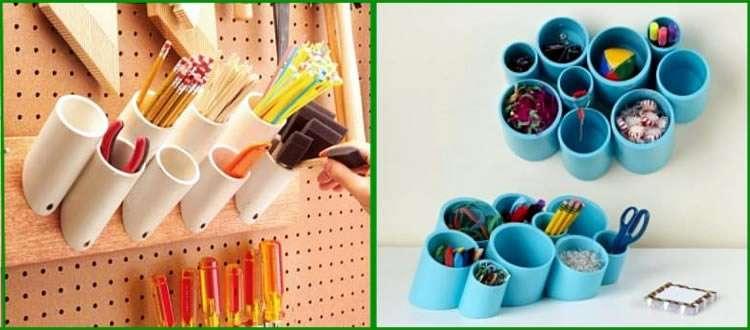 Органайзер из пластиковых труб