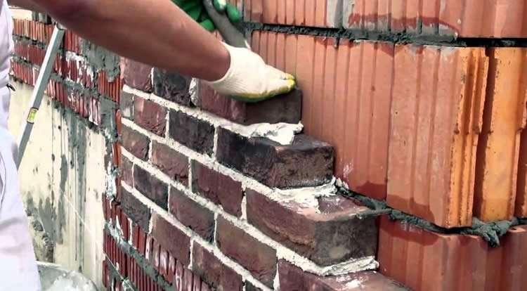 известковый или цементный раствор для кладки