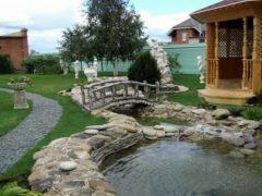 Декоративный водоем на даче – варианты исполнения