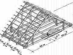 Как правильно установить стропила на двускатную крышу