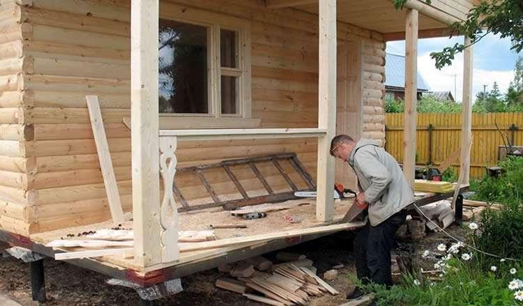 Ограждение террасы из дерева — деревянные перила своими руками