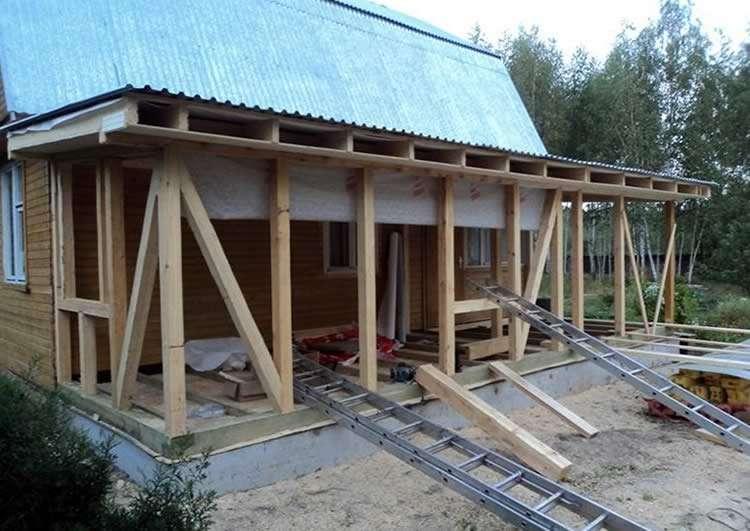 Как пристроить веранду к частному дому?