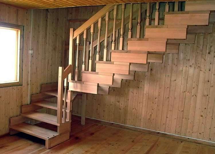 Лестница дачи своими руками дерева фото 187