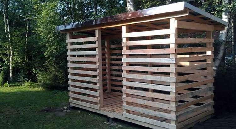 Строительство навеса для дров своими руками