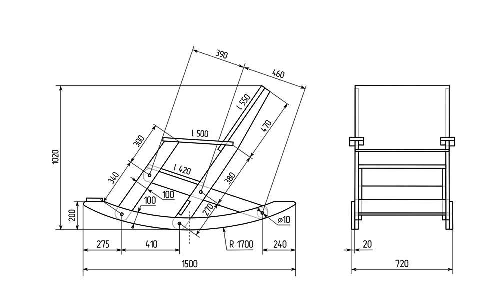Кресло-качалка своими руками (59 фото чертежи, удобные