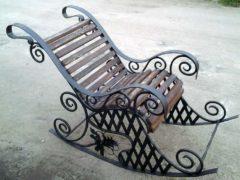 Металлическое кресло-качалка своими руками