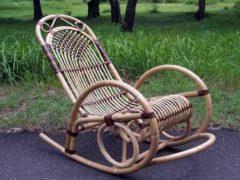 Как сплести кресло-качалку из ивовой лозы