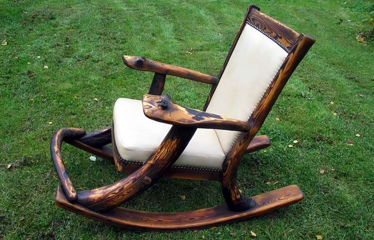 Качалка с обивкой сидения