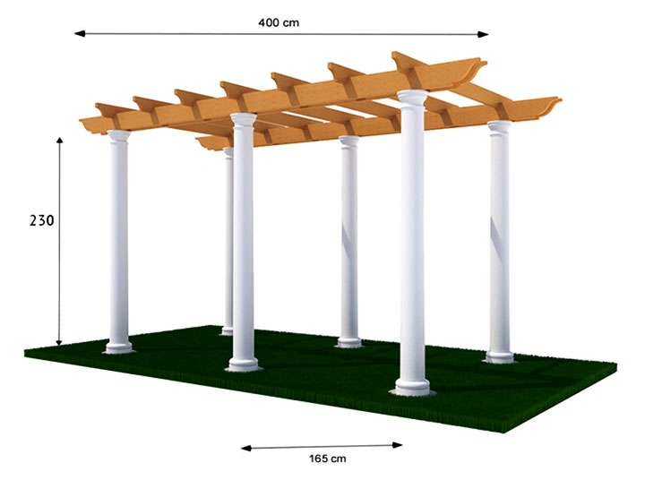Схема конструкции перголы