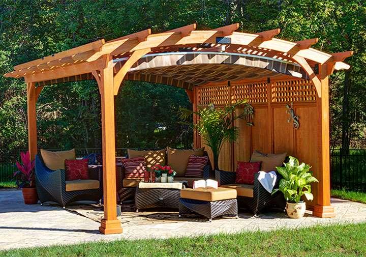 Уютное место для отдыха - пергола
