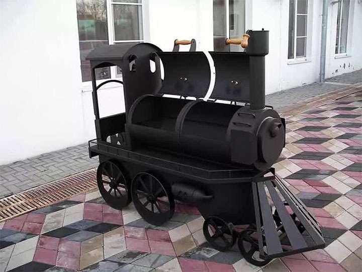 Мангал в виде паровоза