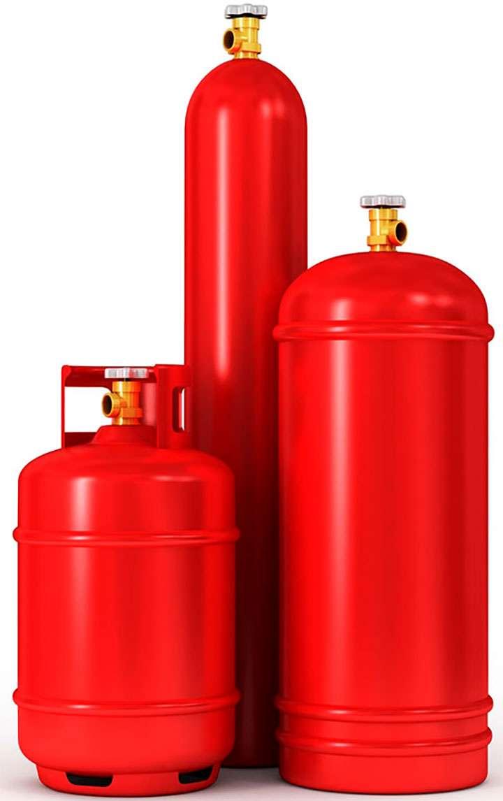Стандартные газовые баллоны