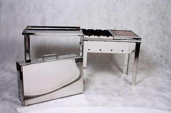 Заводской вариант разборного мангала