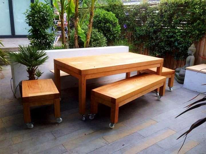 Садовая мебель из березы