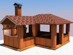 Как самому построить летнюю кухню из кирпича