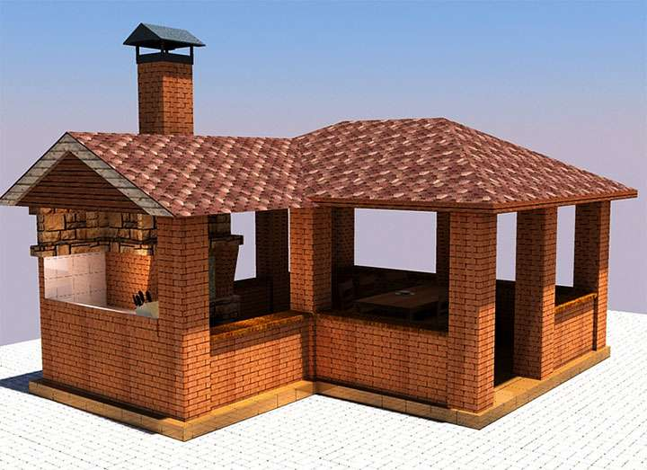 3D-проект летней кухни
