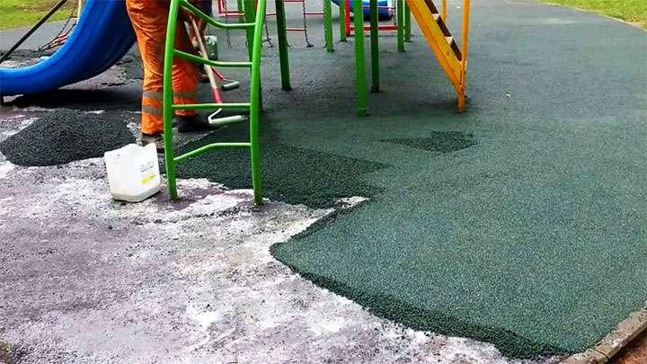 Обустройство покрытия детской площадки