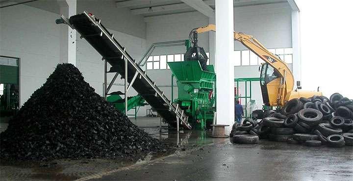 Производство по переработке покрышек