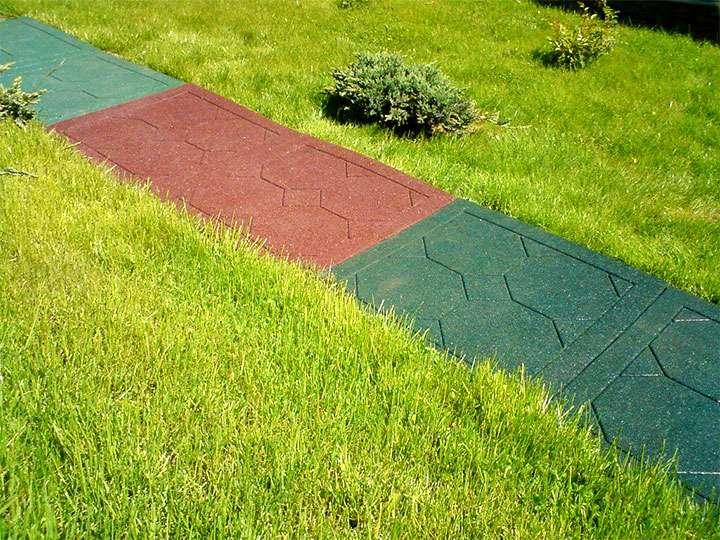 Садовая дорожка из резины