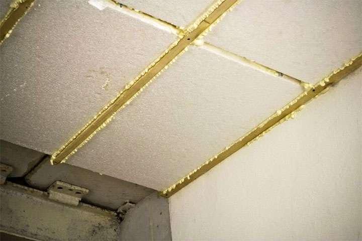 Теплоизоляция потолка пенопластом