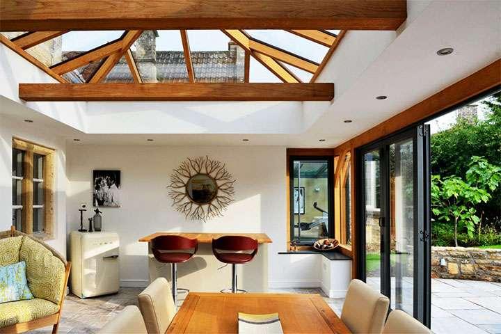 Веранда с стеклянной крышей