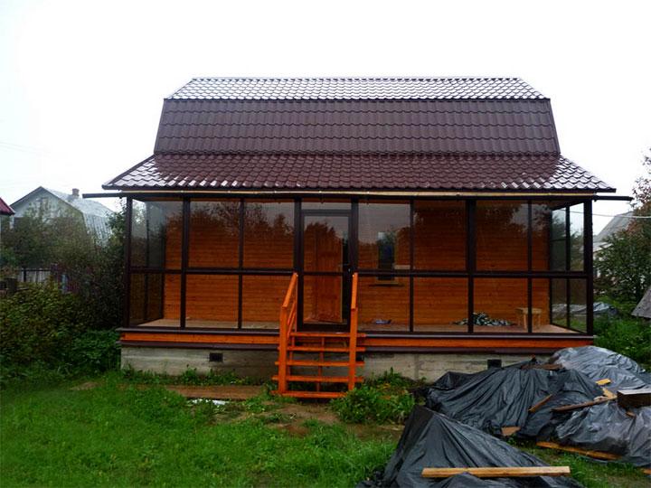 Застекленная терраса частного дома