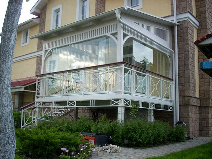 Застекленный балкон-веранда