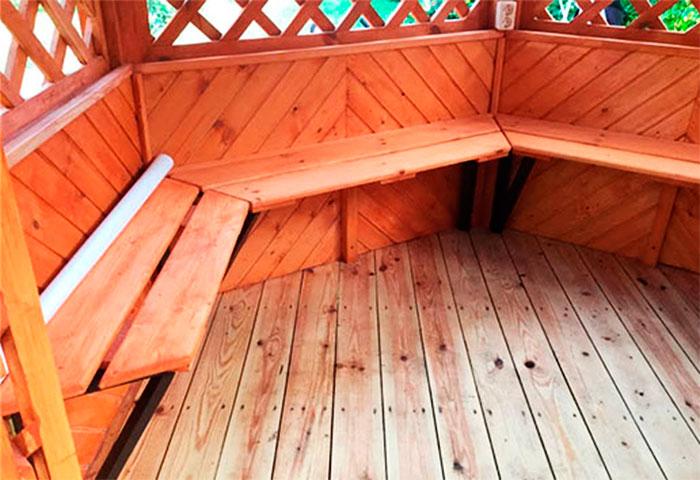 Деревянный пол из доски