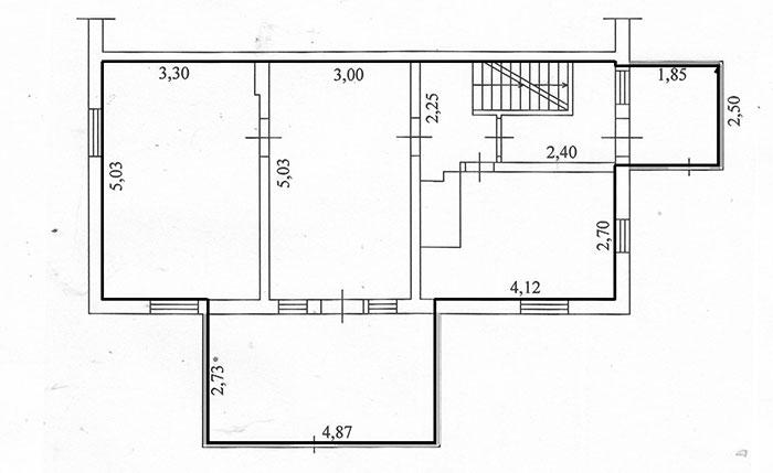 План этажа двухэтажного дома