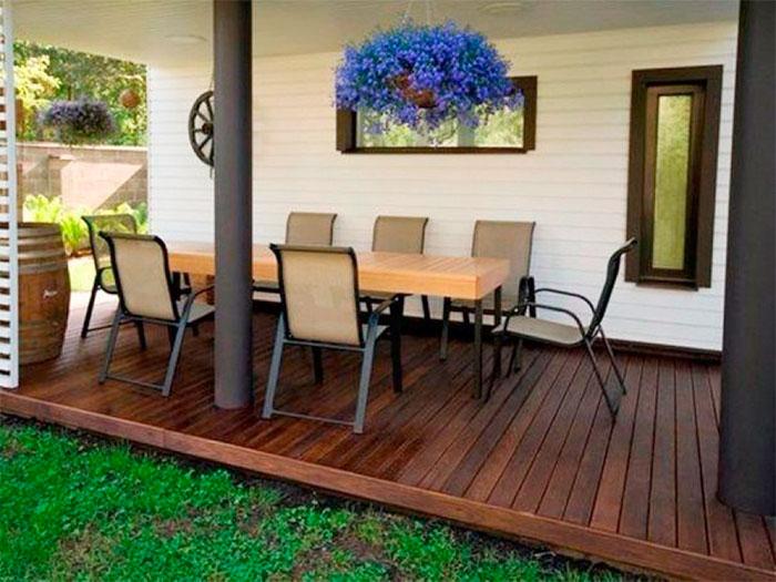 Деревянная терраса в стиле Хай-тек
