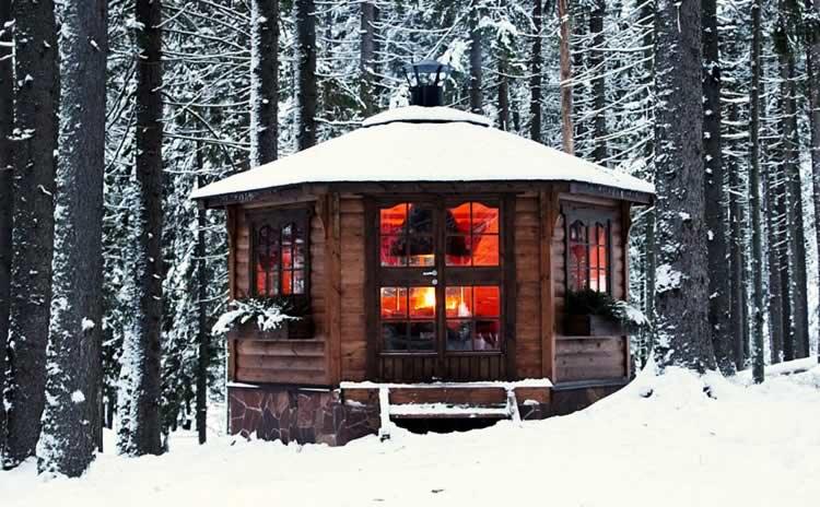 Гриль-домик в зимнее время