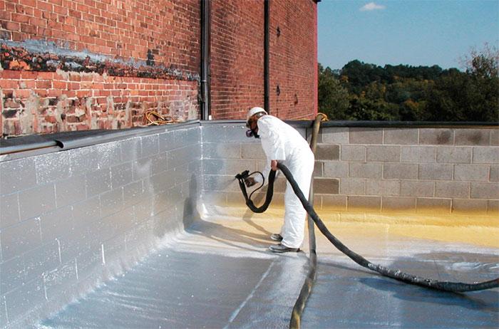 Окрасочная гидроизоляция крыши здания