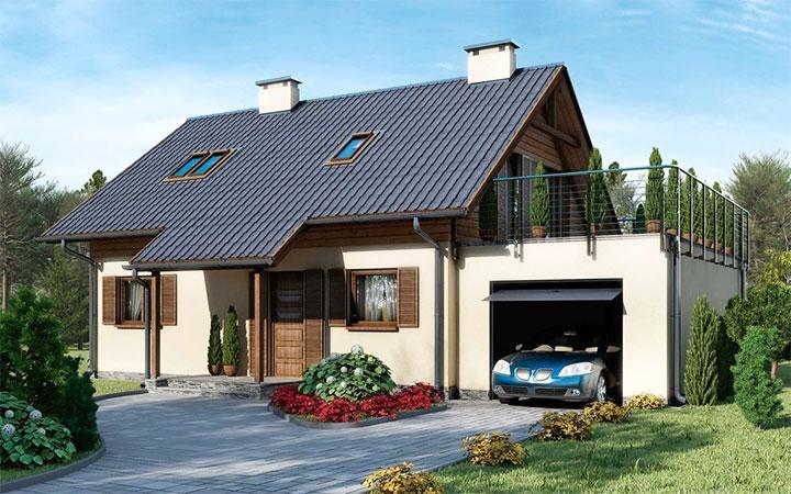 Пристроенный гараж