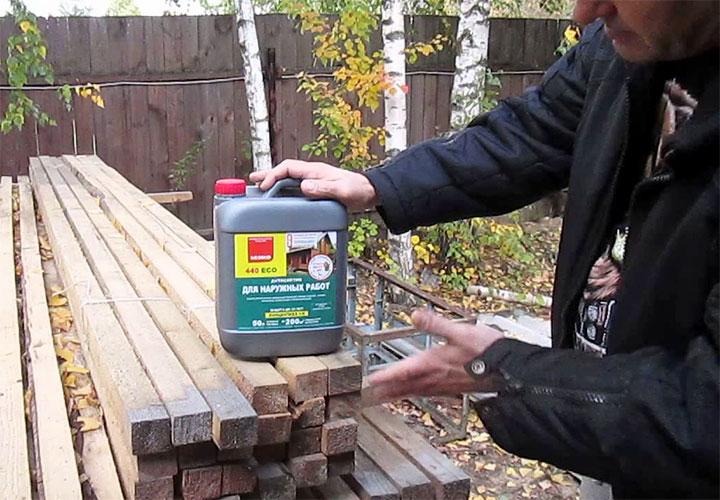 Пропитка для обработки древесины ECO