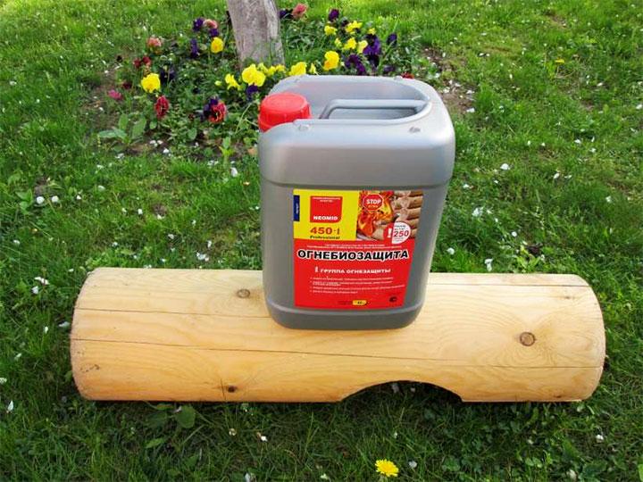 Противопожарная пропитка для древесины
