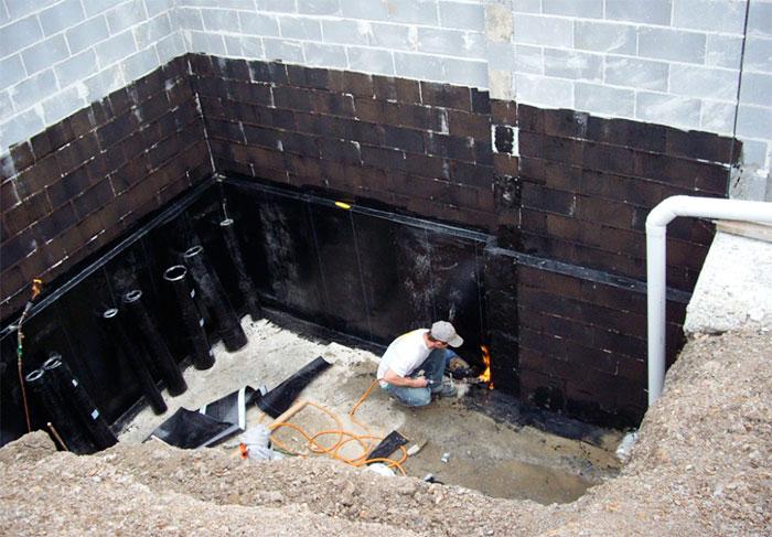 Изоляция стен при помощи рубероида