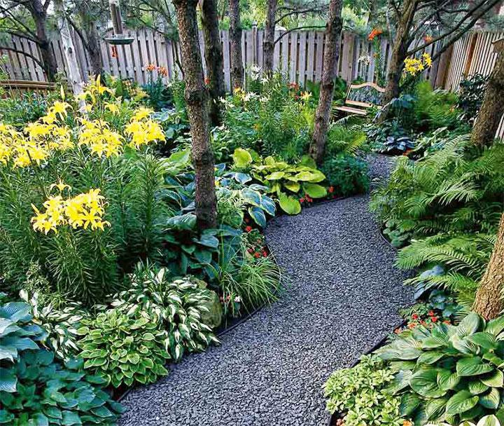 Декорирование дорожки в саду