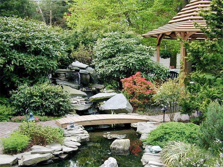 Ландшафтный интерьер в японском стиле