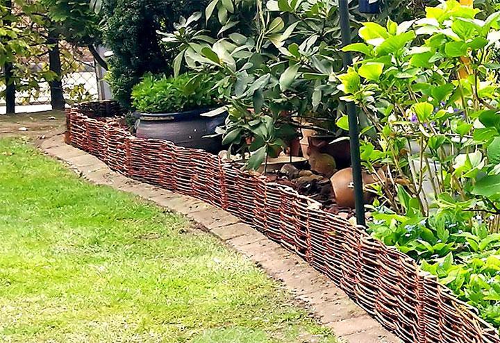 Плетеная ограда для палисадника