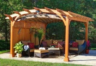 Проект арочной перголы из дерева